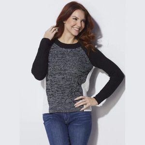 Jack BB Dakota Sweater Flynne Color Block Medium M